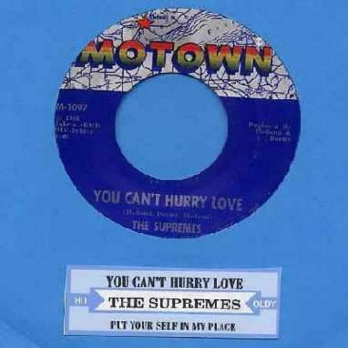 Supremes - You Can't Hurry Love/Put Yourself In My Place (first issue juke box label) - EX8/ - 45 rpm Records