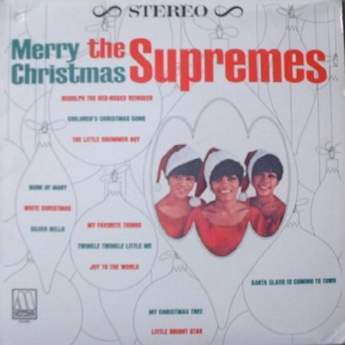 Supremes - Merry Chritmas: Twinkle Twinkle Little Me, My favorite Things, White Christmas, Santa Claus Is Coming To Town, Rudolph The Red-Nosed Reindeer (re-issue of 1965 original recordings, vinyl LP record) - NM9/NM9 - LP Records