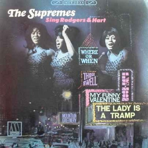 Supremes - The Supremes Sing Rodgers & Hart: The Lady Is A Tramp, My Funny Valentine, My Heart Stood Still, Blue Moon (vinyl LP record) - EX8/VG7 - LP Records