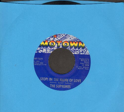 Supremes - Stop! In The Name Of Love/I'm In Love Again  - VG7/ - 45 rpm Records