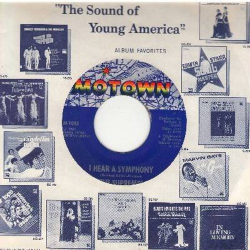 Supremes - I Hear A Symphony/Who Could Ever Doubt My Love (first issue with Motwon company sleeve) (bb) - EX8/ - 45 rpm Records