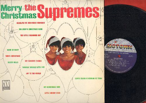 Supremes - Merry Christmas: Twinkle Twinkle Little Me, Santa Claus Is Coming To Town, My Favorite Things, Rudolph The Red-Nosed Reindeer (Vinyl MONO LP record) - EX8/EX8 - LP Records