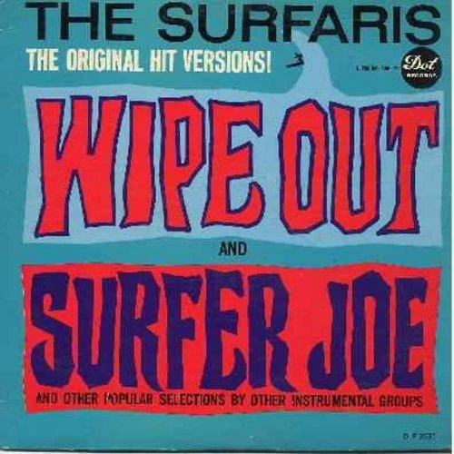 Surfaris - Wipe Out: Wiggle Wobble, Teen Beat, Green Onions, Wild Weekend, Walk Don't Run, You Can't Sit Down (Vinyl MONO LP record) - EX8/VG7 - LP Records