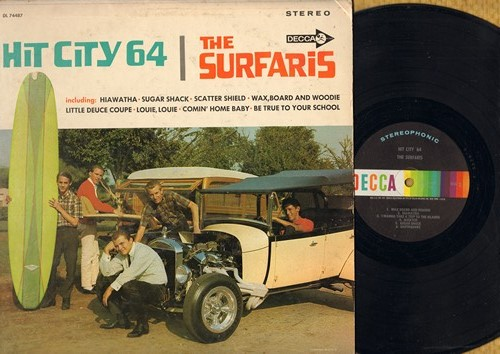 Surfaris - Hit City 64: Be True To Your School, Little Deuce Coupe, Louie Louie, Sugar Shack, Earthquake (Vinyl STEREO LP record) - NM9/VG7 - LP Records