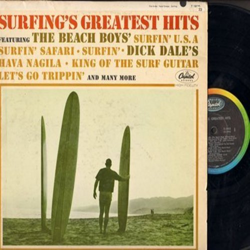 Beach Boys, Dick Dale & His Del-Tones, Frank N. Stein & The Drop-Outs, others - Surfing's Greatest Hits: Surfin' U.S.A., King Of The Surf Guitar, Monster Surfer, Murphy's Grey Wet Suit (Vinyl MONO LP record) - VG7/VG7 - LP Records