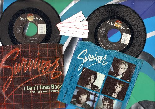 Survivor - 2 first issue 45s with picture sleeve for the price of 1! Includes Hits Is This Love and I Can't Hold Back. - EX8/VG7 - 45 rpm Records