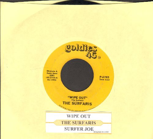 Surfaris - Wipe Out/Surfer Joe (re-issue with juke box label) - NM9/ - 45 rpm Records