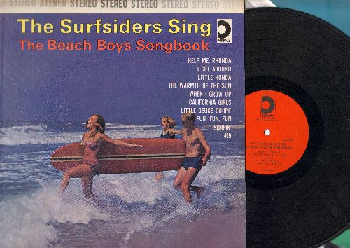 Surfsiders - The Surfsiders Sing The Beach Boys Song Book: Help Me Rhonda, I get Around, Little Honda, Surfin', 409. California Girls, Fun Fun Fun 9vinyl STEREO LP records) - NM9/EX8 - LP Records