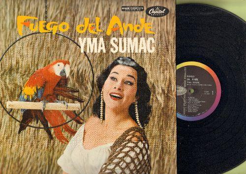 Sumac, Yma - Fuego Del Ande: Virgenes Del Sol, La Molina, Flor De Canela, Huachina, Mi Palomita, Gallito Caliente (vinyl MONO LP record) - NM9/NM9 - LP Records