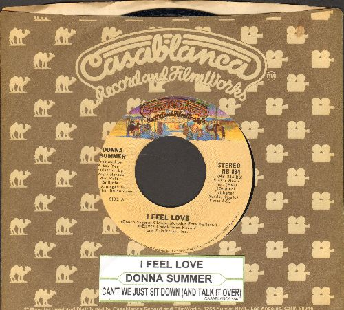 Summer, Donna - I Feel Love/Can't We Just Sit Down (And Talk It Over)(with Casablanca company sleeve and juke box label) - NM9/ - 45 rpm Records