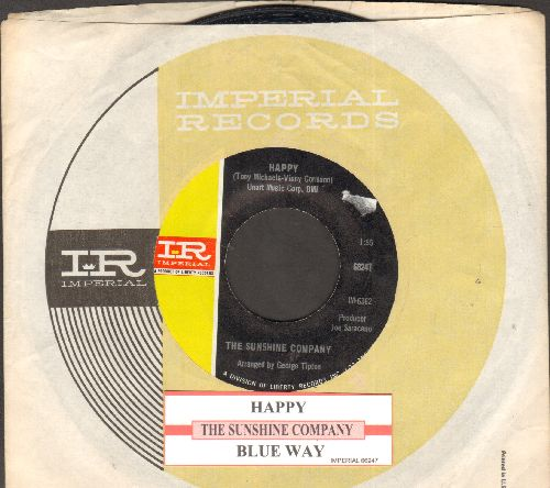 Sunshine Company - Happy/Blue May  (with juke box label and company sleeve) - NM9/ - 45 rpm Records