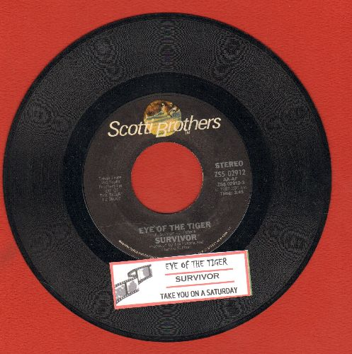 Survivor - Eye Of The Tiger (Theme from 'Rocky III)/Take You On A Saturday (with juke box label) - NM9/ - 45 rpm Records