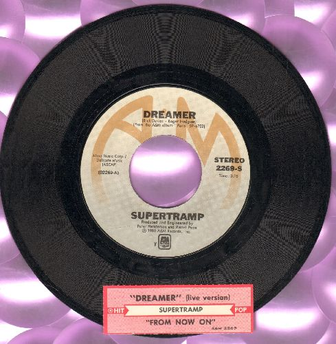 Supertramp - Dreamer/From Now On (with A&M company sleeve) - NM9/ - 45 rpm Records