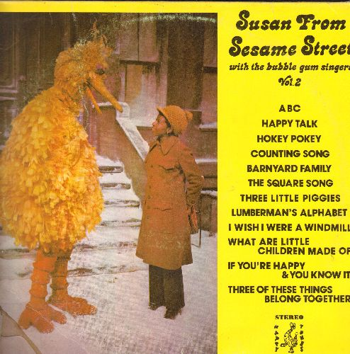 Susan From Sesame Street - Susan From Sesame Street with the Bubble Gum Singers Vol. 2: ABC, Happt Talk, Hokey Pokey, If You're Happy & You Know It (Vinyl STEREO LP record) - NM9/VG7 - LP Records