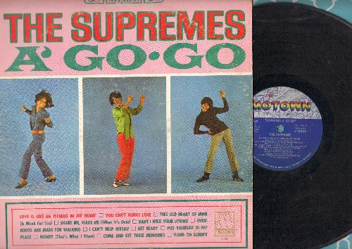 Supremes - Supremes A Go Go: You Can't Hurry Love, Baby I Need Your Loving, I Can't Help Myself, These Boots Are Made For Walking, Hang On Sloopy (Vinyl STEREO LP record) - VG7/VG6 - LP Records