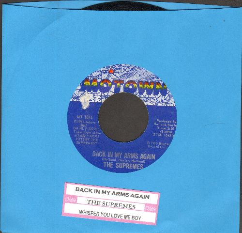 Supremes - Back In My Arms Again/Whisper You Love Me Boy (with juke box label) - EX8/ - 45 rpm Records