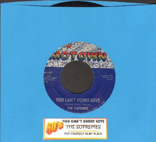 Supremes - You Can't Hurry Love/Put Yourself In My Place (first issue juke box label) - VG7/ - 45 rpm Records
