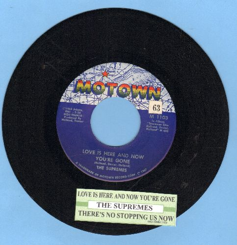 Supremes - Love Is Here And Now You're Gone/There's No Stopping Us Now (first issue with juke box label) - NM9/ - 45 rpm Records