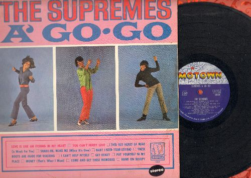 Supremes - The Supremes A' Go-Go: You Can't Hurry Love, Baby I Need Your Loving, I Can't Help Myself, Hang On Sloopy, These Boots Are Made For Walking (Vinyl STEREO LP record) - EX8/EX8 - LP Records