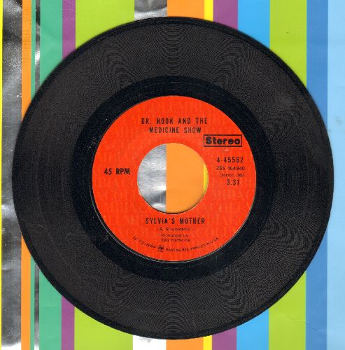Dr. Hook & The Medicine Show - Sylvia's Mother/Makin' It Natural (light red label STEREO issue) - EX8/ - 45 rpm Records