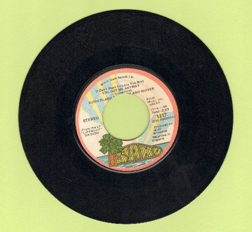 Sutherand Brothers And Quiver - (I Don't Want To Love You But) You Got Me Anyway/Rock And Roll Show - NM9/ - 45 rpm Records