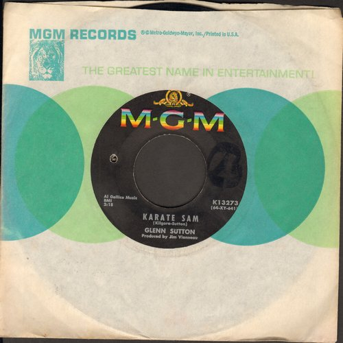 Sutton, Glenn - Karate Sam/The Fabulous Playboy Bill (NOVELTY two-sider!) (bb) - VG7/ - 45 rpm Records