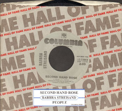 Streisand, Barbra - People/Second Hand Rose (MINT condition gray label double-hit re-issue with company sleeve and juke box label) - M10/ - 45 rpm Records