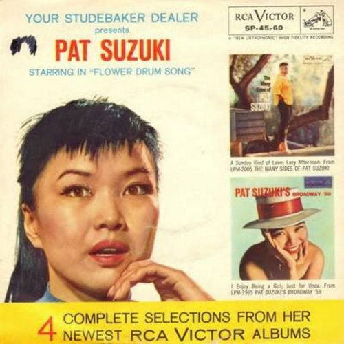 Suzuki, Pat - Your Studebaker Dealer Presents Pat Suzuki: A Sunday Kind Of Love/ Enjoy Being A Girl/Lazy Afternoon/Just For Once (Vinyl EP record with picture cover) - EX8/VG7 - 45 rpm Records