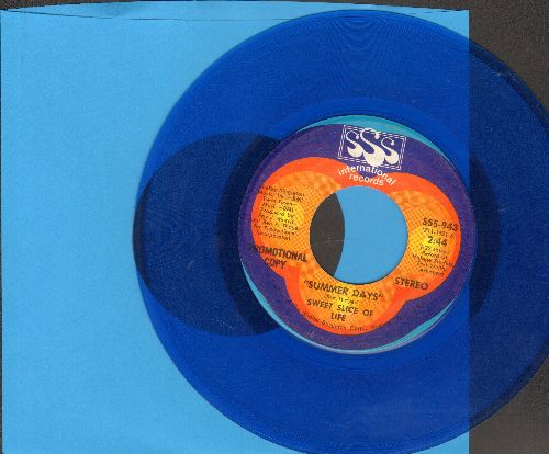 Sweet Slice Of Life - Summer Days (BLUE VINYL double-A-sided DJ advance pressing) - VG7/ - 45 rpm Records