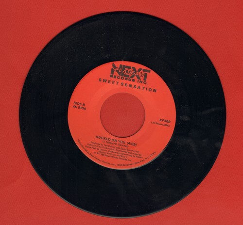 Sweet Sensation - Hooked On You (Long and Short Version of Disco Hit) - NM9/ - 45 rpm Records