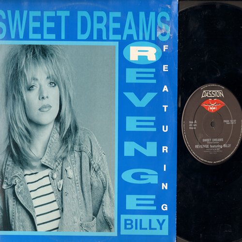Revenge Featuring Billy - Sweet Dreams (Updated Euro-Dance Club Version of Eurythmics Hit)/This Is The Way (12 inch Maxi Single with picture cover, British Pressing) - NM9/EX8 - Maxi Singles