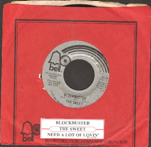 Sweet - Block Buster/Need A Lot Of Lovin' (with Bell company sleeve and juke box label) - EX8/ - 45 rpm Records