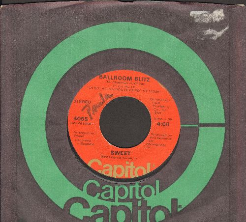 Sweet - Ballroom Blitz/Restless (with Capitol company sleeve, minor wol) - VG7/ - 45 rpm Records