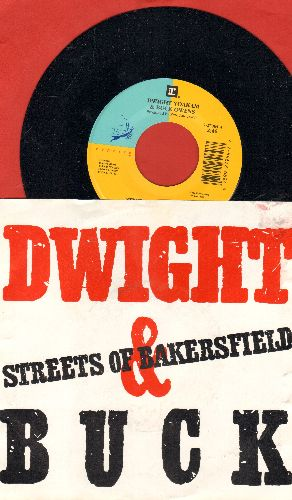 Yaokam, Dwight & Buck Owens - Streets Of Bakersfield/One More Name (with picture sleeve) - NM9/EX8 - 45 rpm Records