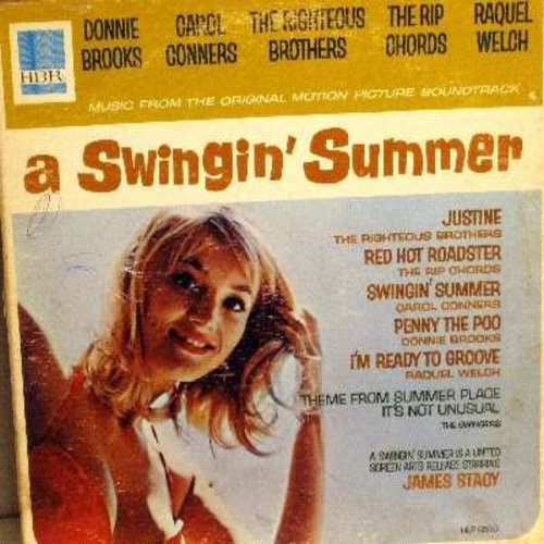 Righteous Brothers, Rip Chords, Donnie Brooks, others - A Swinging' Summer - Original Motion Picture Sound Track featuring original Rock & Roll recordings by various artists (Vinyl MONO LP record, gate-fold cover) - EX8/VG7 - LP Records