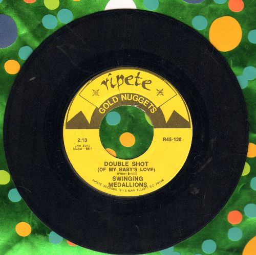 Swinging Medallions - Double-Shot (Of My Baby's Love?/Polk Salad Annie (by Tony Joe White on flip-side) (re-issue) - EX8/ - 45 rpm Records