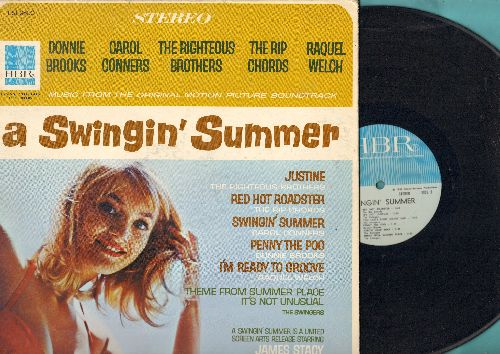 Righteous Brothers, Rip Chords, Donnie Brooks, others - A Swinging' Summer - Original Motion Picture Sound Track featuring original Rock & Roll recordings by various artists (Vinyl STEREO  LP record, gate-fold cover, NICE condition!) - NM9/EX8 - LP Record