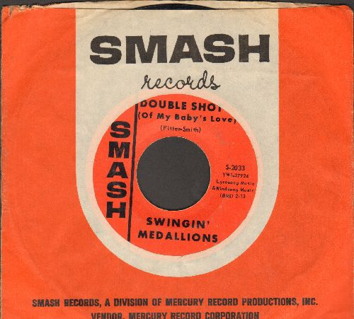 Swingin' Medallions - Double Shot (Of My Baby's Love)/Here It Comes Again (with Smash company sleeve) - EX8/ - 45 rpm Records