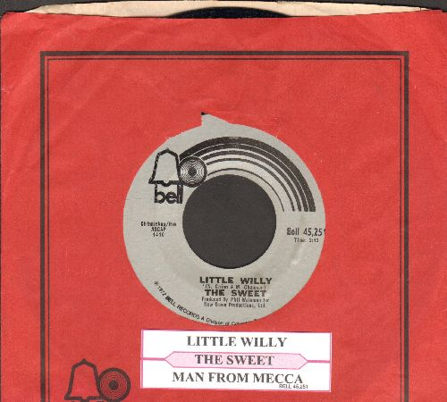 Sweet - Little Willy/Man From Mecca (with juke box label and Bell company sleeve) - NM9/ - 45 rpm Records