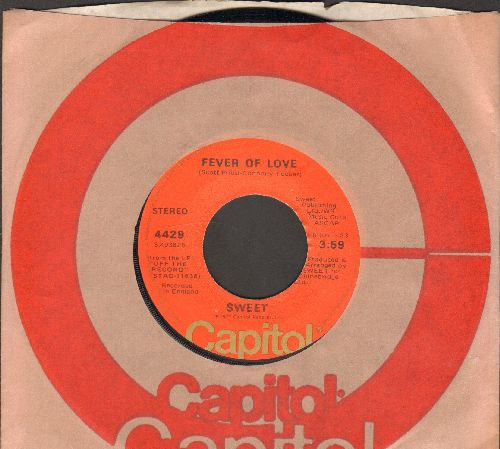 Sweet - Fever Of Love/Heartbreak Today (with Capitol company sleeve) - NM9/ - 45 rpm Records