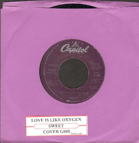 Sweet - Love Is Like Oxygen/Cover Girl (with juke box label) - VG7/ - 45 rpm Records