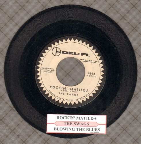 Swags - Rockin' Matilda/Blowing The Blues (RARE Vintage Surf Instrumental 2-Sider with juke box label) - VG7/ - 45 rpm Records