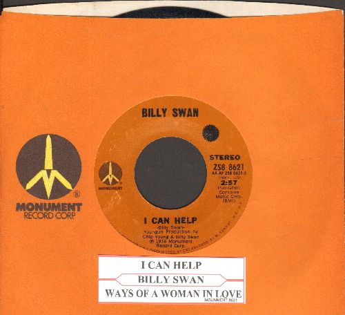 Swan, Billy - I Can Help/Ways Of A Woman In Love (with juke box label and Monument company sleeve) - EX8/ - 45 rpm Records