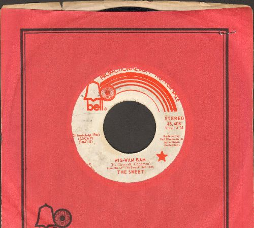 Sweet - Wig-Wam Mam (double-A-sided DJ advance pressing with Bell company sleeve, wol) - EX8/ - 45 rpm Records