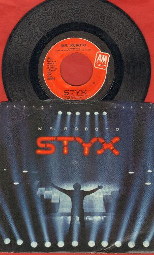 Styx - Mr. Roboto/Snowblind (with picture sleeve) - VG7/EX8 - 45 rpm Records