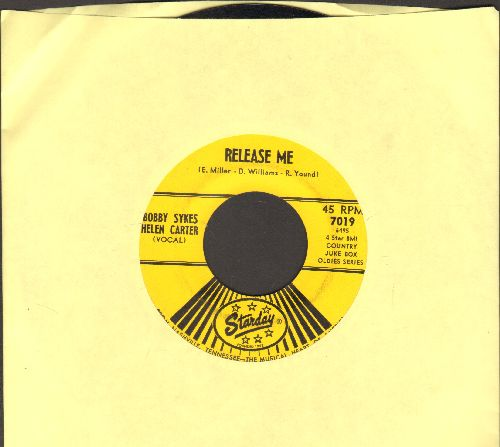 Sykes, Bobby & Helen Carter - Release Me/There Stands The Glass (by Eddie Wilson on flip-side) - EX8/ - 45 rpm Records