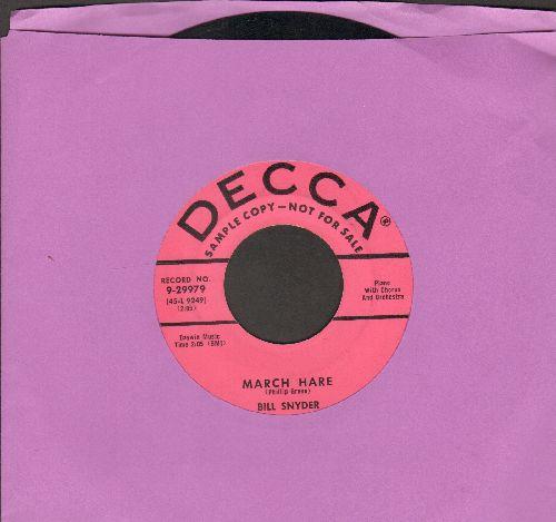 Snyder, Bill - March Hare/Reverie In Rhythm (DJ advance pressing) - EX8/ - 45 rpm Records