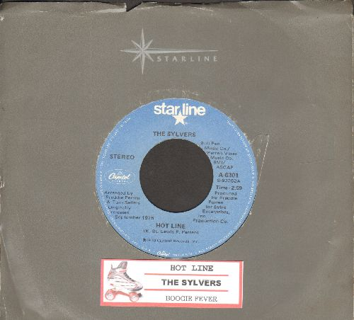 Sylvers - Hot Line/Boogie Fever (double-hit re-issue with juke box label and Capitol company sleeve) - NM9/ - 45 rpm Records