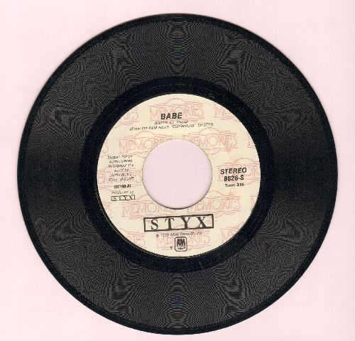 Styx - Babe/Why Me (double-hit re-issue) - VG7/ - 45 rpm Records