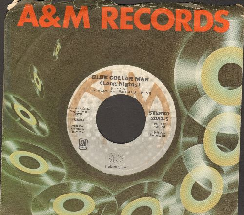 Styx - Blue Collar Man (Long Nights)/Superstars (with A&M company sleeve) - EX8/ - 45 rpm Records